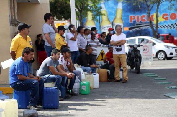 Morelia cumple 22 días sin gasolina
