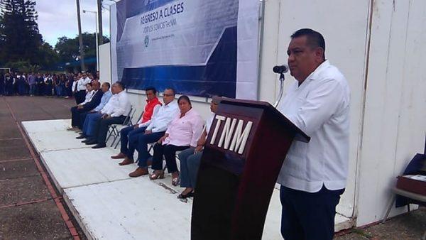 En próximos días se iniciará aplicación del recurso de escuelas al cien en el TNM Tuxtepec