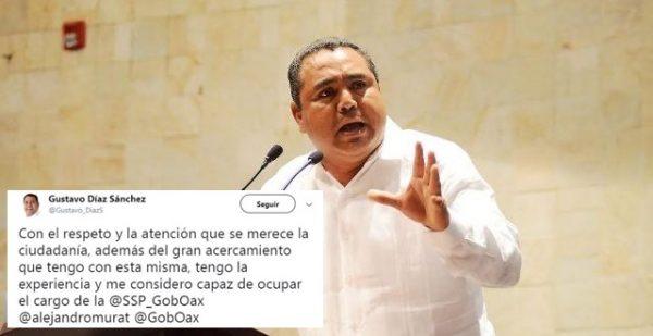 Se ofrece expresidente de #Cosolapa para dirigir la Secretaría de Seguridad de #Oaxaca
