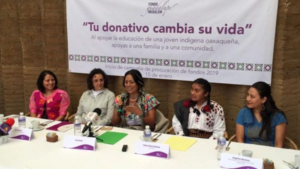"""Fondo """"Guadalupe Musalem"""" y Lila Downs, invitan a donar para apoyar a jóvenes indígenas"""