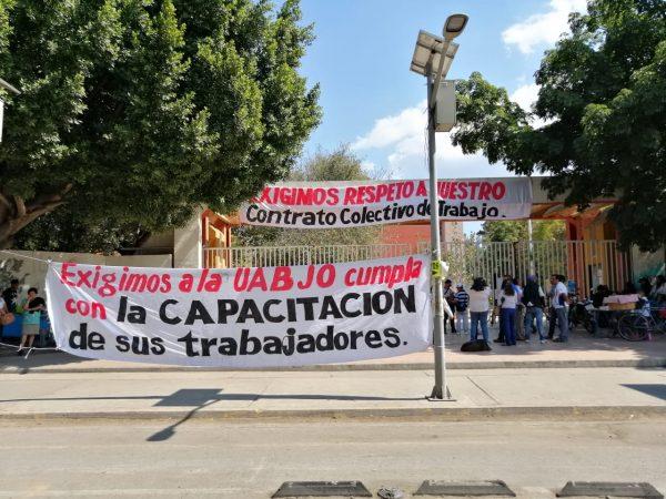 """""""Para el gobernador no somo importantes"""" sindicalizados del STEUABJO"""