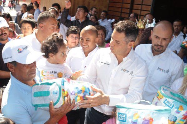 Festeja Gobierno de Oaxaca a niñas y niños en este Día de Reyes