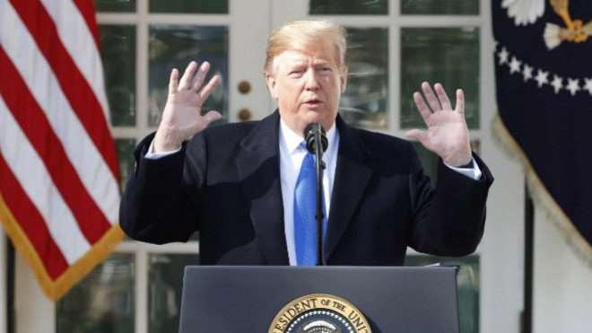 Trump declara el estado de emergencia nacional en Estados Unidos