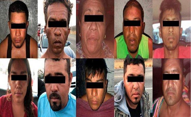 Detienen a 10 narcomenudistas con armas, en frontera de Oaxaca