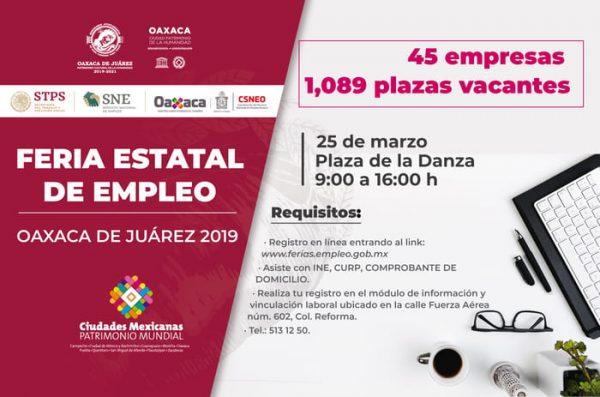 Plaza de la Danza, sede de la Feria Estatal de Empleo Oaxaca de Juárez 2019