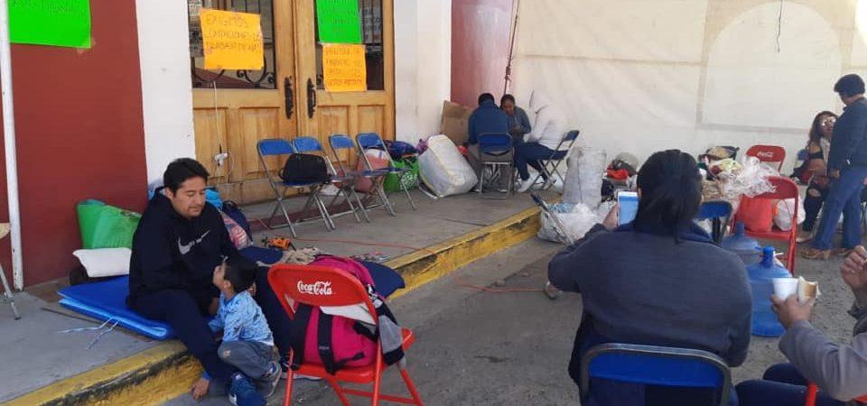 Continúa protesta de trabajadores del Tribunal Superior de Justicia en Oaxaca
