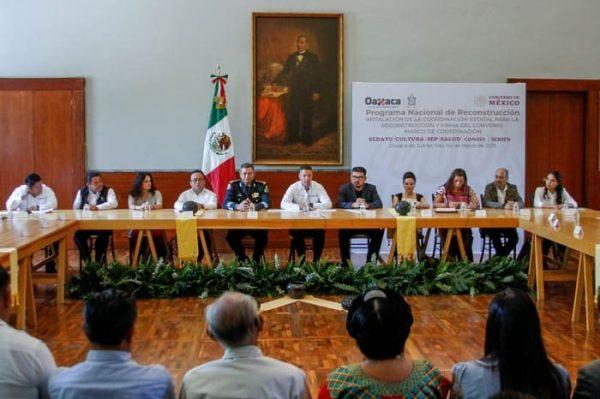 Gobierno de Oaxaca y Federación inician nueva etapa para la reconstrucción de zonas afectadas por sismos