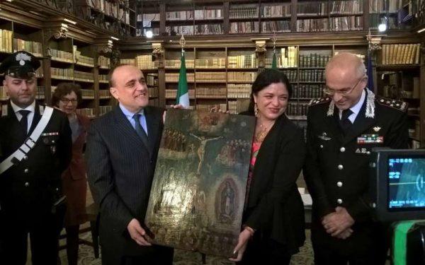 Italia devuelve a México cerca de 600 pinturas
