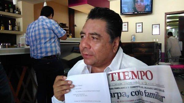 Diputado García Corpus señala a Rosario Robles de generar campaña en su contra en 2015