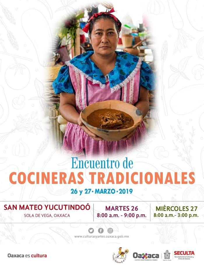 Invita Seculta a encuentro de cocineras tradicionales  en la Sierra Sur