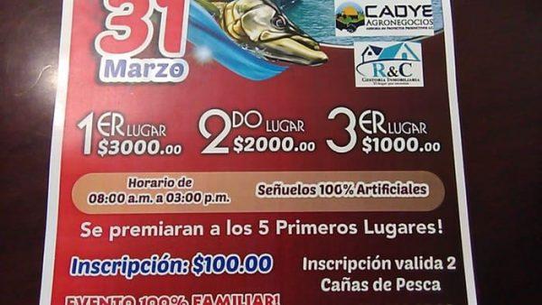 Cincuenta personas inscritas para el segundo torneo de pesca deportiva en Tuxtepec