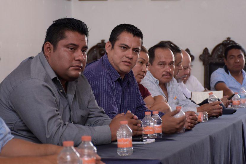 Celebran primera reunión de trabajo directores del Ayuntamiento y autoridades auxiliares