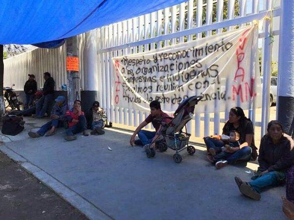 CNPA bloquea oficinas de Bienestar en Oaxaca, exigen reconocimiento a su organización por parte del Gobierno Federal
