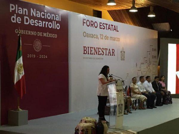 """Secretaria de Bienestar pone en marcha """"Foro estatal del plan nacional de desarrollo"""" en Oaxaca"""