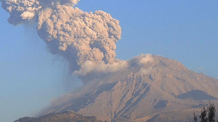 Nueva explosión del Popocatépetl