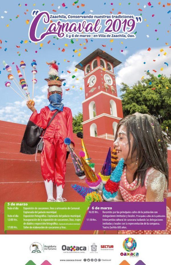 Invita Sectur al Carnaval 2019 en la Villa de Zaachila