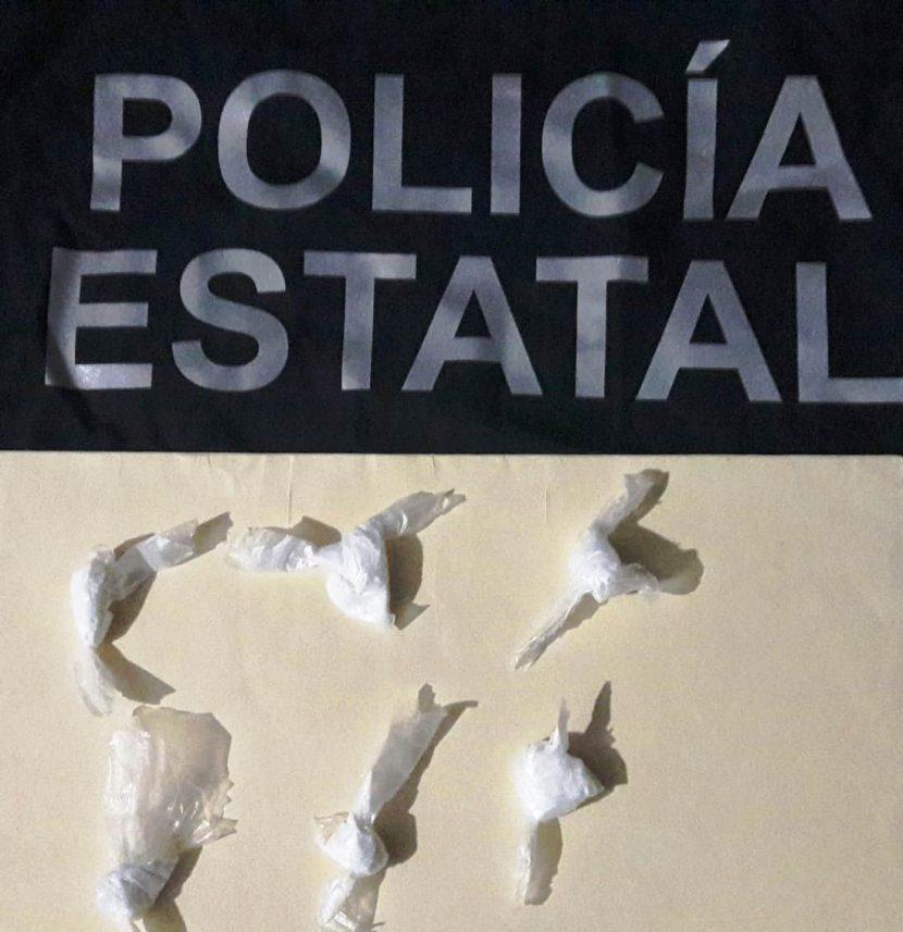 Detiene Policía Estatal a persona con seis dosis de estupefacientes