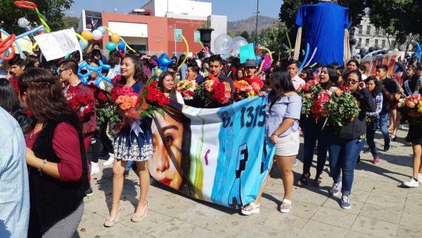 Participa Prepa 7 de la UABJO en paseo floral