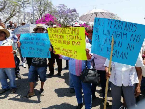 Comuneros de Cuilapam denuncian invasión de tierras