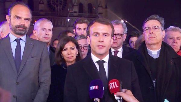 """""""Reconstruiremos la Catedral de Notre-Dame"""": Emmanuel Macron"""