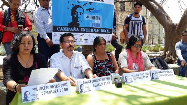 Ponen en marcha campaña internacional para pedir liberación del defensor de derechos humanos Pablo López Alavez
