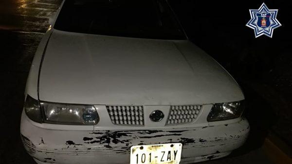 Aseguran vehículo con reporte de robo en la Mixteca