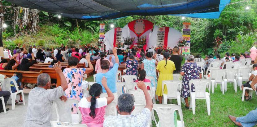 En Rancho Grande cientos de católicos celebran al Sagrado Corazón de Jesús