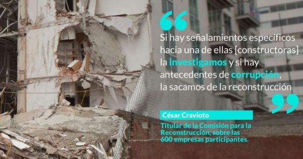 Damnificados por el S19 exhiben a 4 empresas de la reconstrucción