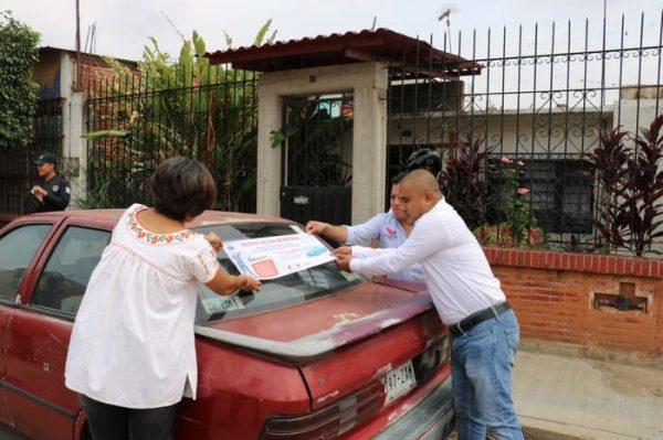 Implementan programa de liberación de la vía pública en Santa Lucia del Camino