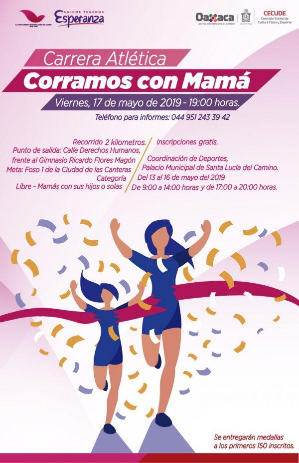 """Convocan a mujeres Santalucenses a participar en carrera atletica """"Corramos con Mamá"""""""