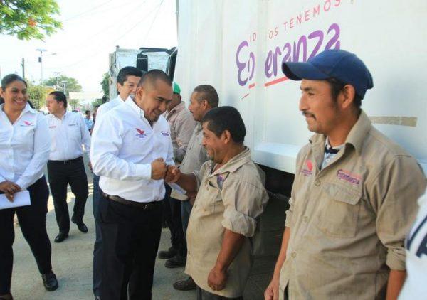 Nuevos camiones recolectores de basura en Santa Lucía del Camino