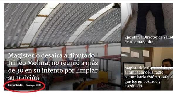 Señala Irineo Molina a Dávila de orquestar campaña en su contra