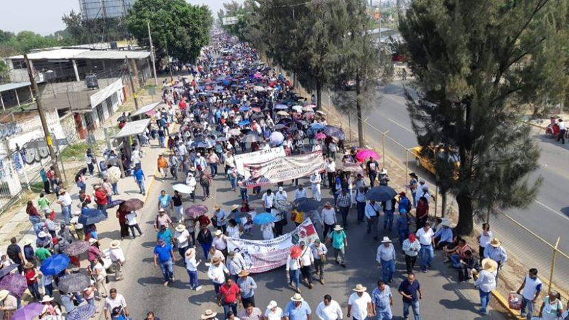 Maestros marchan en Oaxaca; rechazan la reforma educativa de AMLO
