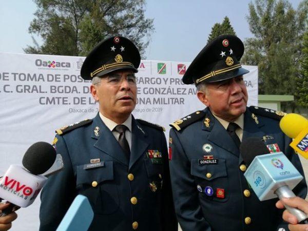 Relevan a comandante en la VIII región militar de Oaxaca