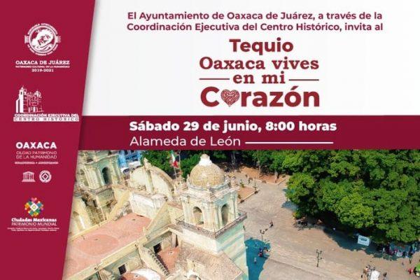 """Invita Ayuntamiento capitalino al  tequio """"Oaxaca vives en mi corazón"""""""