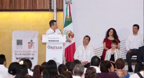 Oaxaca, partícipe de las principales iniciativas del Plan Nacional de Desarrollo: Alejandro Murat