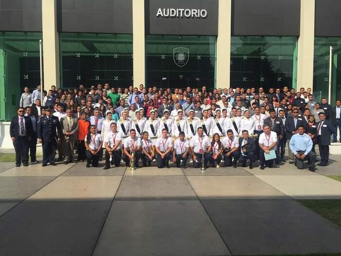 Instructores de banda de guerra de Chiltepec, reciben capacitación