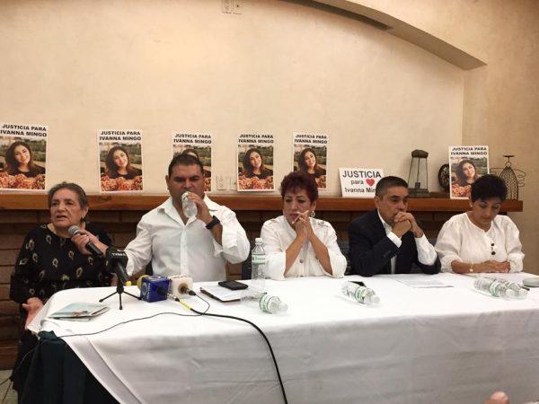 Ministerios públicos tienen línea de no inculpar a Alfredo Delgado Cervantes, denuncian familiares de Ivanna Mingo