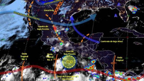 Pronostican lluvias intensas en Michoacán, Oaxaca y Chiapas