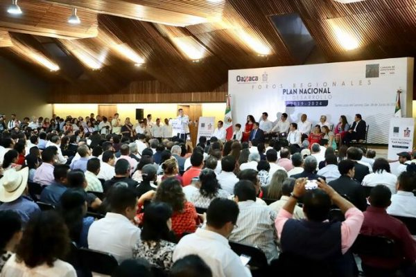 """Oaxaca, sede del Foro regional """"Plan Nacional de Desarrollo"""" 2019-2024"""