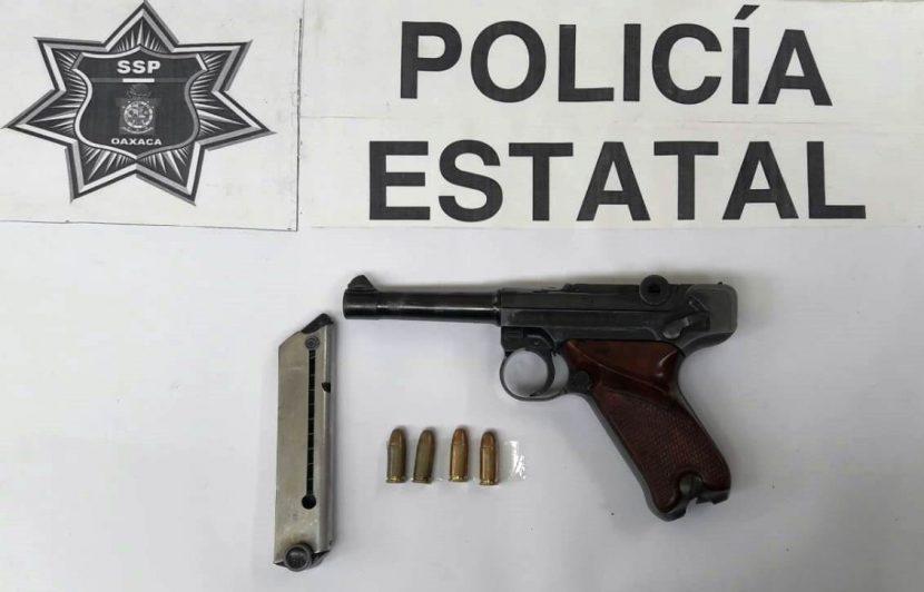 Una persona detenida por la portación de un arma de fuego sin licencia
