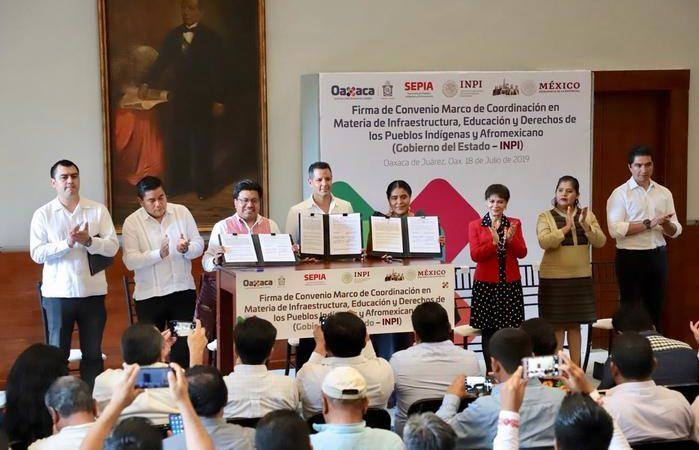 Acuerdan Gobierno de Oaxaca e INPI colaboración en infraestructura, educación y derechos de los pueblos indígenas y afromexicano