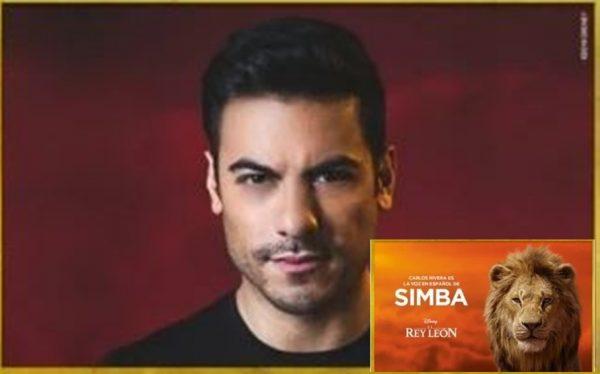 """Carlos Rivera le dará voz a Simba en película de """"El Rey León"""""""
