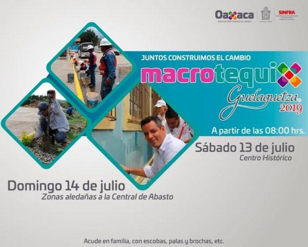 Oaxaca te necesita, súmate al Macro Tequio Guelaguetza 2019
