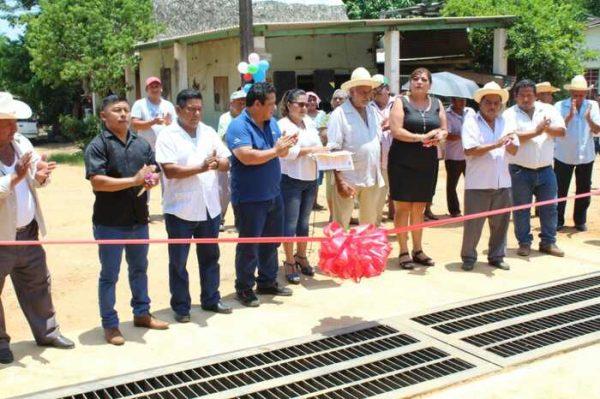 Inauguración de drenaje pluvial en Cerro Flores