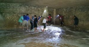 Limpieza y desinfección de tanques elevados de agua potable en Chiltepec