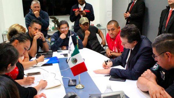 Confirma SSPC acuerdo con policías federales