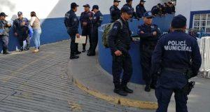 Policías municipales de Oaxaca de Juárez, nuevamente revientan ante inconformidad por programa FORTASEG