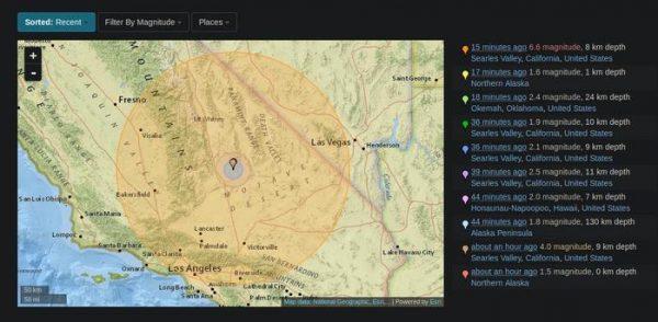Fuerte terremoto sacude el sur de California
