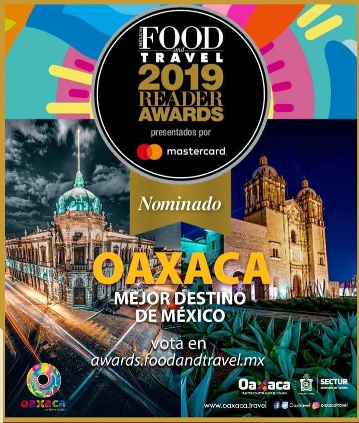 Nominan a Oaxaca en 2 categorías de los Food and Travel Reader Awards
